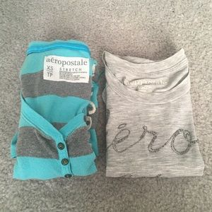 Two pair of Aeropostale XS t shirts